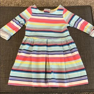 Pleated toddler dress